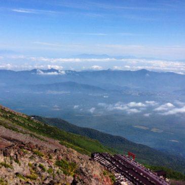 Ausblick vom Mount Fuji