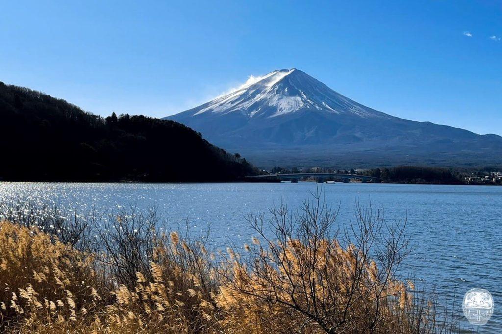 Der Mount Fuji aus der Ferne