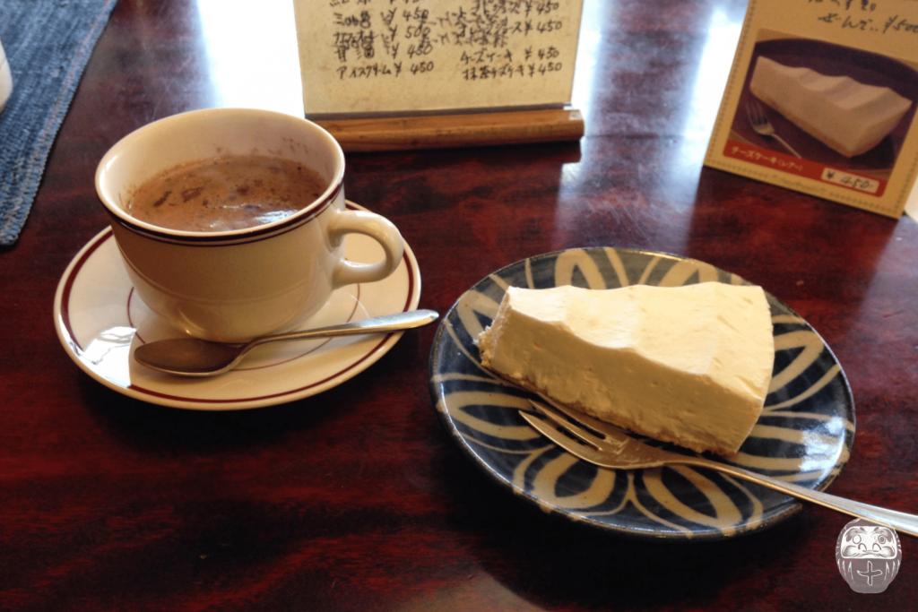 Käsekuchen und heiße Schokolade im Yebisuya
