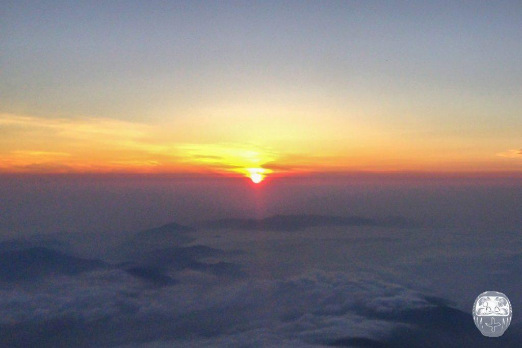 Sonnenaufgang vom Gipfel des Mount Fuji